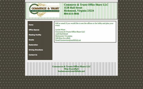 Screenshot of Contact Page candtofficeshare.com - Commerce & Trusts Office Share LLC - captured Oct. 2, 2014