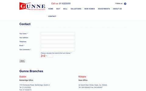 Screenshot of Contact Page gunne.ie - Gunne. Your Door to Best Advice. - captured Oct. 3, 2014