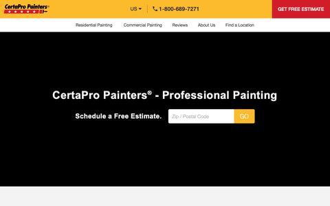 Screenshot of Home Page certapro.com - Professional Painters | Painting Contractors | CertaPro Painters® - captured Feb. 16, 2019
