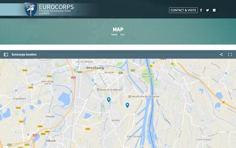 Screenshot of Maps & Directions Page eurocorps.org - Map - Eurocorps - captured July 10, 2017