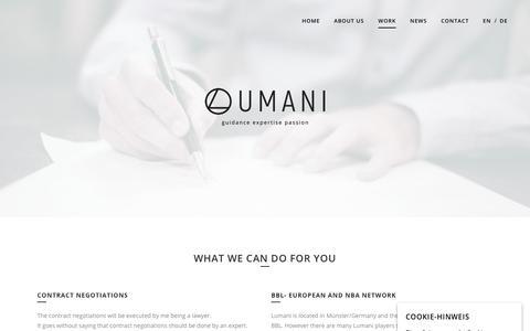 Screenshot of Services Page lumani107.net - Work - Lumani 10.7 - captured Dec. 15, 2018