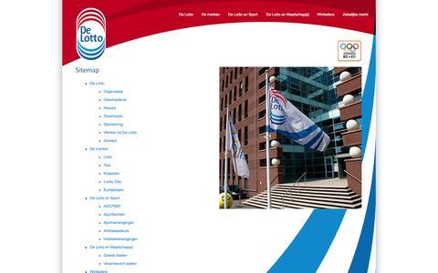 Screenshot of Site Map Page delotto.nl - Sitemap | De Lotto - captured Sept. 30, 2014