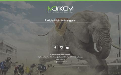 Screenshot of Home Page markambilisim.com.tr - Markam Reklam - captured March 5, 2016