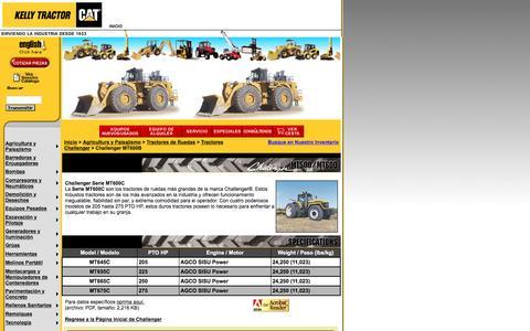 Screenshot of Landing Page kellytractor.com - Kelly Tractor Challenger Tractors - captured Aug. 12, 2016