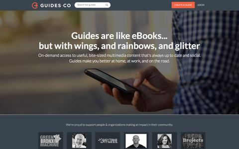Screenshot of About Page guides.co - About Guides.co - captured Nov. 21, 2015