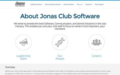 Jonas Club Software - About Jonas Club Software