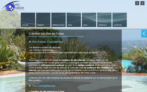 Screenshot of Home Page creation-site-corse.com - Création de site Internet en Corse : Référencement de site en Corse, web agency en Corse - captured April 20, 2016