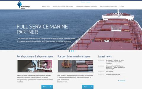 Screenshot of Home Page neg-marine.com - North East Group - Marine software solutions and Marine engineering services - captured Oct. 7, 2014