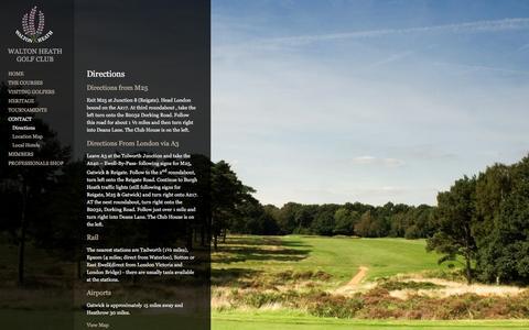Screenshot of Maps & Directions Page waltonheath.com - Directions | Walton Heath Golf Club - captured June 18, 2016