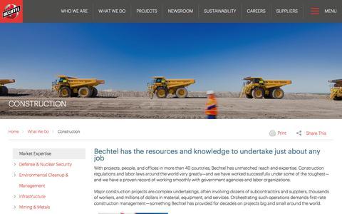 Construction Management Services - Bechtel