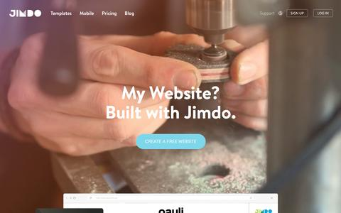 Screenshot of Home Page jimdo.com - Website Builder: Create a Free Website - Jimdo - captured July 21, 2016