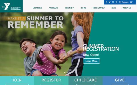 Screenshot of Home Page philaymca.org - Home - Philadelphia Freedom Valley YMCAPhiladelphia Freedom Valley YMCA - captured July 3, 2018