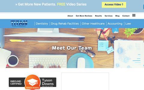 Screenshot of Team Page titanwebagency.com - Meet Our Team - captured Nov. 23, 2017