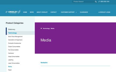 Screenshot of Press Page croxleyonline.co.nz - SX5007 - Media - Croxley E-Commerce - captured Dec. 15, 2017