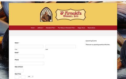 Screenshot of Contact Page starnoldsmusselbar.com - Contact – St. Arnold's Mussel Bar - captured Dec. 3, 2016