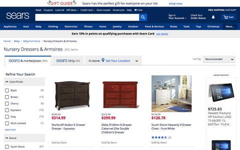 Nursery Dressers | Nursery Armoires - Sears