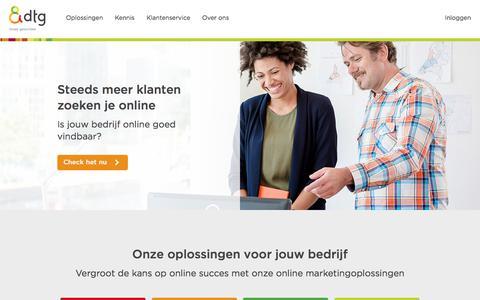 Screenshot of Home Page dtg.nl - DTG biedt de juiste online marketingoplossing voor jouw bedrijf - captured March 15, 2018