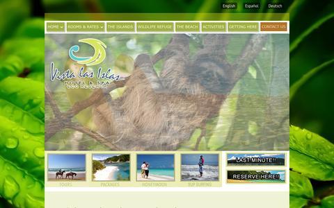 Screenshot of Contact Page vistalasislas.com - Driving ‹ Vista Las Islas Eco Hotel & Reserva Natural, Paquera Costa RicaVista Las Islas Eco Hotel & Reserva Natural, Paquera Costa Rica - captured Oct. 26, 2014