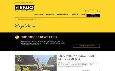 Screenshot of Press Page enjo.com - Enjo News - ENJO - captured Nov. 9, 2018