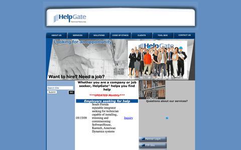 Screenshot of Jobs Page helpgate-inc.com - Careers: HelpGate, Inc. - captured July 18, 2018