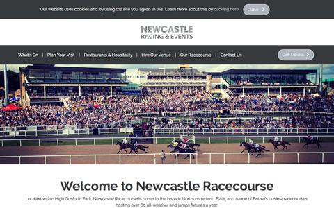 Screenshot of Home Page newcastle-racecourse.co.uk - Horse Racing, Events | Newcastle Racecourse - captured Nov. 12, 2017