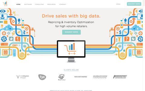 Screenshot of Home Page teikametrics.com - Teikametrics - Ecommerce Seller Software - captured Sept. 19, 2014