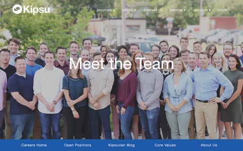 Screenshot of Team Page kipsu.com - Team   Kipsu - captured Sept. 20, 2018