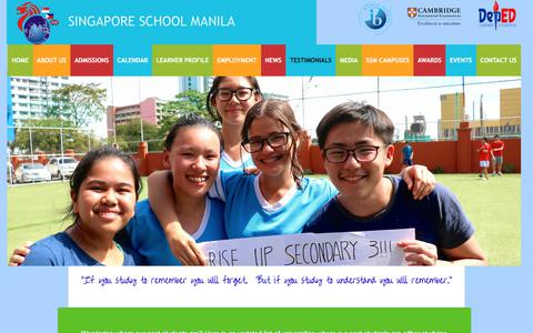 Screenshot of Testimonials Page singaporeschoolmanila.com.ph - Testimonials - captured Jan. 29, 2018
