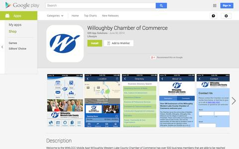Screenshot of Android App Page google.com - Willoughby Chamber of Commerce - Android Apps on Google Play - captured Nov. 5, 2014