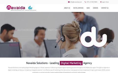 Screenshot of Home Page navaida.com - Leading Digital Marketing Agency, Navaida Solutions, Dubai, UAE - captured Nov. 24, 2016