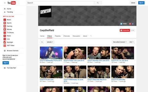 Screenshot of youtube.com - CorpSheffield  - YouTube - captured July 22, 2016