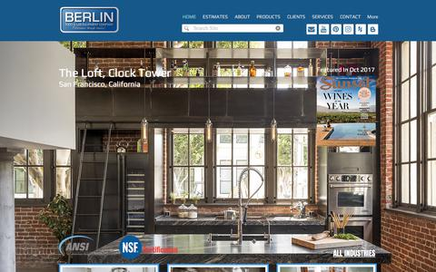 Screenshot of Home Page berlinusa.com - Custom Stainless Kitchen Fabrication - captured Oct. 10, 2017