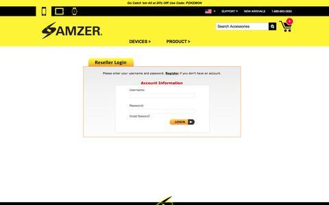 Screenshot of Login Page amzer.com - AMZER.COM - Login to your Account - captured July 25, 2016