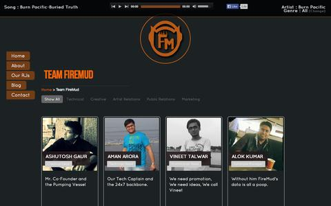 Screenshot of Team Page firemudfm.com - FireMud FM - The Online Radio Station   Let There Be Music - captured Sept. 19, 2014