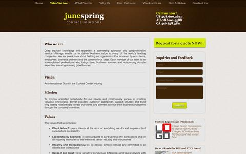 Screenshot of Team Page junespringcontactsolutions.com - Best Outsourcing Company | June Spring Contact Solutions - captured Jan. 9, 2016