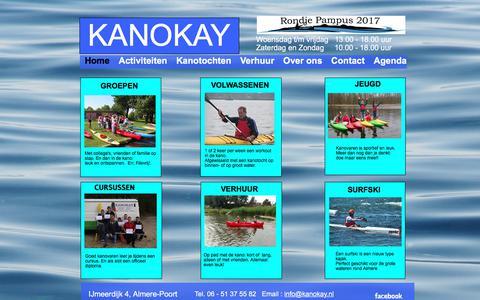 Screenshot of Home Page kanokay.nl - Home - KANOKAY - captured June 9, 2017