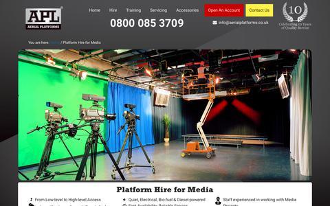 Screenshot of Press Page aerialplatforms.co.uk - Platform Hire for Media | APL Aerial Platforms - captured Nov. 12, 2018