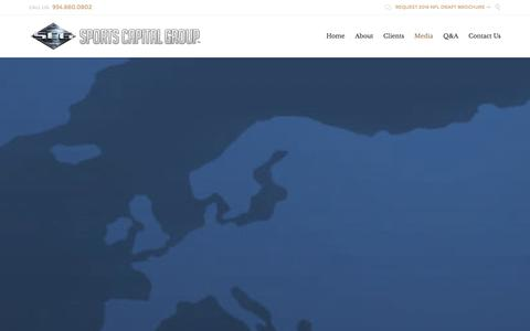 Screenshot of Press Page sportscapitalgroup.com - Media - Sports Capital Group - captured Jan. 11, 2016