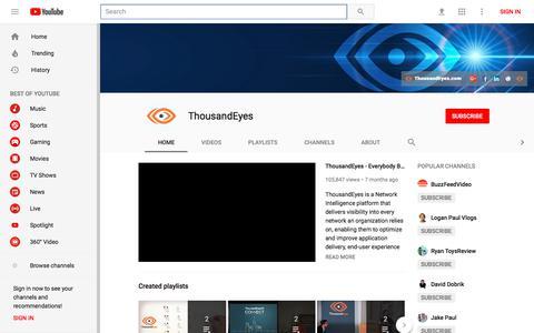 ThousandEyes - YouTube - YouTube