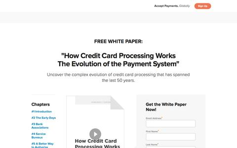 Screenshot of Landing Page 2checkout.com - How Credit Card Processing Works, Part One - 2Checkout - captured Aug. 20, 2016