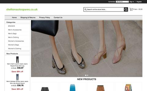Screenshot of Home Page sheltonautospares.co.uk - Cheap Shopping   Men's Accessories,Men's Bags,Men's Clothing,Women's Accessories,100% Guaranteed - captured Oct. 20, 2017