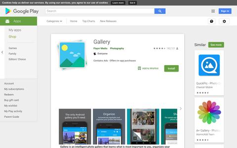 Screenshot of Android App Page google.com - Gallery - Apps on Google Play - captured July 13, 2018