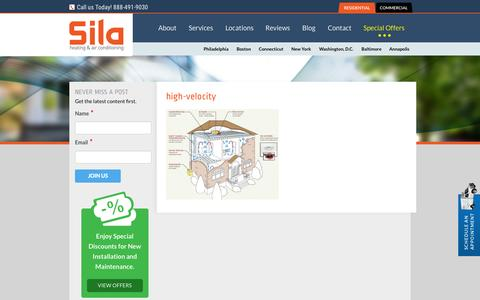 Screenshot of Landing Page sila.com - high-velocity - Sila Air Conditioning and Heating - captured Nov. 5, 2015