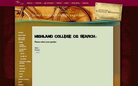 Screenshot of Signup Page highlandbc.org - CG Sign Up - captured Oct. 2, 2014