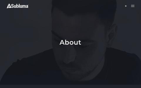 Screenshot of About Page subluma.co.uk - About Subluma | Web Design & Branding, Stockton, Teesside - captured Oct. 18, 2018