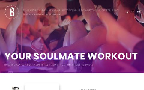 Screenshot of Home Page butiyoga.com - Buti Yoga — Sweat With Intention. - captured Sept. 24, 2018