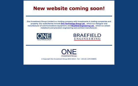 Screenshot of Home Page one.co.uk - One Investment Group Limited - captured Oct. 7, 2014