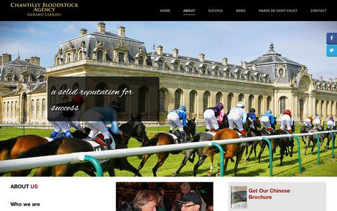Screenshot of About Page chantillybloodstock.com - About - Chantilly Bloodstock Agency - captured July 17, 2018