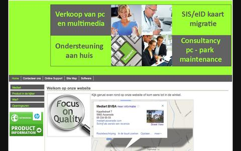 Screenshot of Home Page mediart-assenede.com - Mediart - captured Oct. 6, 2014