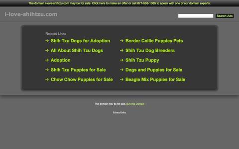 Screenshot of Home Page i-love-shihtzu.com - I-Love-Shihtzu.com - captured Nov. 12, 2015
